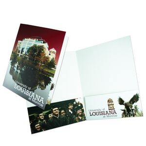 "Large Square Corner Presentation Folder with 2 Pockets (9""x12"") printed in full color 4/0"
