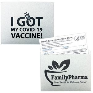 "Vaccine Card Sleeve (4 3/8""x3 1/2"") Printed 1 PMS"