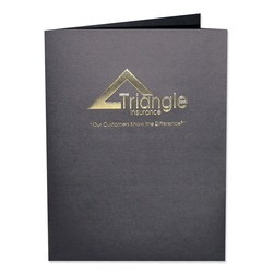 "Foil Stamped Presentation Folder with Square Corners and 2 Pockets (9""x12"")"