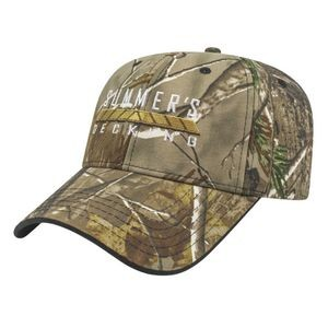 Two-Tone Camo Cap w/Visor Trim