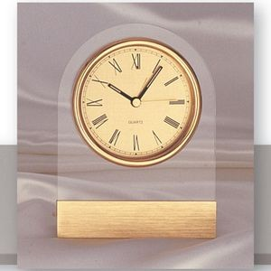 Desk Clock in Clear Acrylic