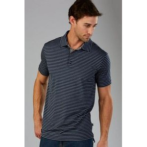RULE 18 Control Stripe Polo Shirt