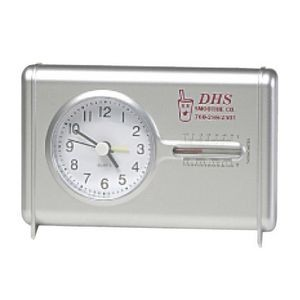 Clearance Item! Quartz Desk Clock w/Thermometer