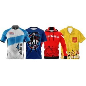 Convention Sample Kit: T-shirt, Hoodie, Cycling Jersey, Bowling Shirt