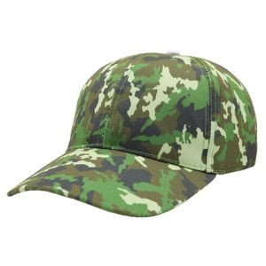 6 panel Ball cap sublimated camo