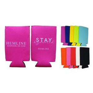 Slim Neoprene Koozie with Side Stitching, 2-side print, Full color