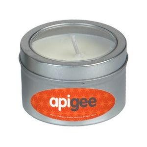 Scented Candle in Small Window Tin