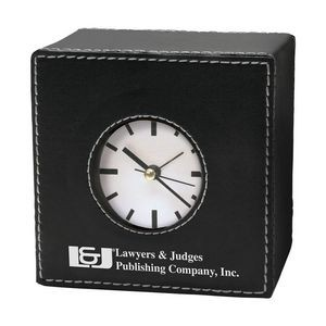 Manila Large Leatherette Desk Clock