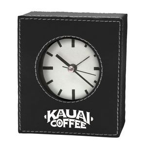 Manila Leatherette Desk Clock