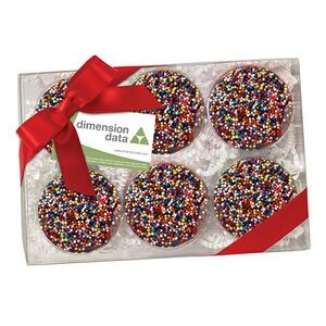 Elegant Chocolate Covered Oreos® Gift Box - Rainbow Sprinkles (6 pack)