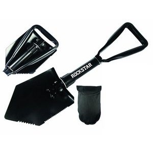 "22-1/2"" Premium Quality Black Tri Fold Shovel with Carrying Case"