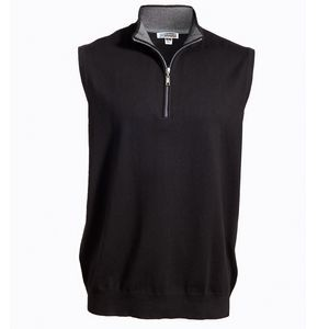 Quarter-Zip Cotton Blend Vest