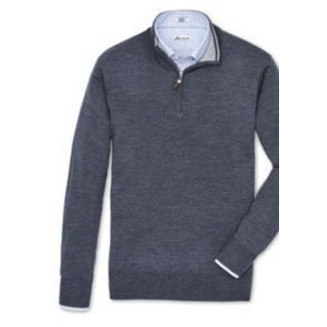 Peter Millar Merino Wool/Silk Blend Quarter Zip Pullover Shirt