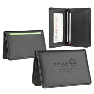 Signature Leather Business Card Wallet (black)