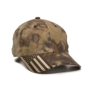 Outdoor Cap® Structured Camo Cap w/US Flag Visor Insert