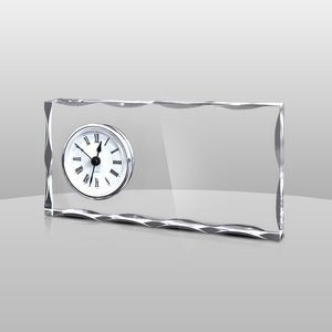 "Clear Acrylic Award Clock (8""x4""x1"")"