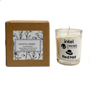 Eco-Friendly White Linen Plant Based Candle