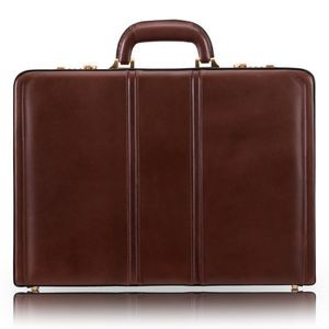 "DALEY | 3.5"" Brown Leather Attaché 
