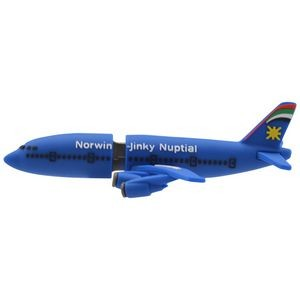 Custom Rubber Airplane USB Drive (4 GB)