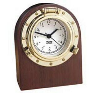 Nautical Desk Clock/Elegantly Finished North American Hardwood