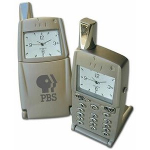 Miniature Metal Phone Replica Desk Clock