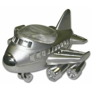 Miniature Jumbo Jet Replica Metal Clock