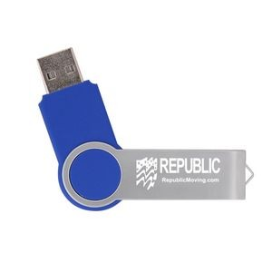 Blue Swivel USB Drive (4GB)