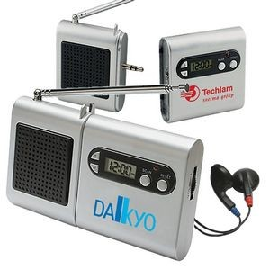FM Scanner Radio and LCD Clock