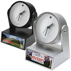 Analog Alarm Clock (Black or Silver)