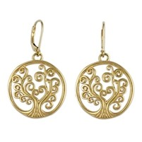 Tree Of Life Earrings Gold