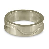 Hammered River Wedding Ring (8 Mil)