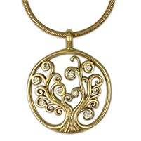Tree Of Life w/Gem Pendant Necklace (Small)