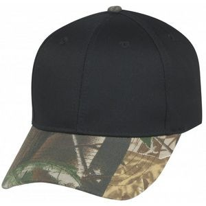 Low Constructed Crown Cotton Twill Cap w/Oak Camo Bill