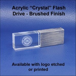 "Acrylic ""Crystal"" Flash Drive - Brushed - 1 GB Memory"