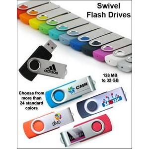 Swivel Flash Drive - 128 MB Memory