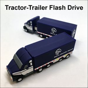 Tractor-Trailer Flash Drive - 8GB Memory