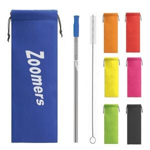 Colorful Pouch Straw Kit