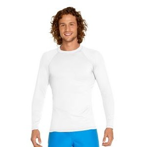Adult Long Sleeve Rash Guard - White